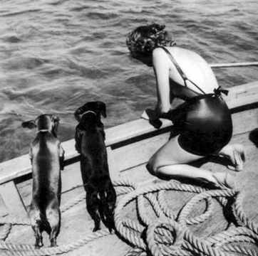 , 'Model with Two Daschunds,' ca. 1940, Staley-Wise Gallery
