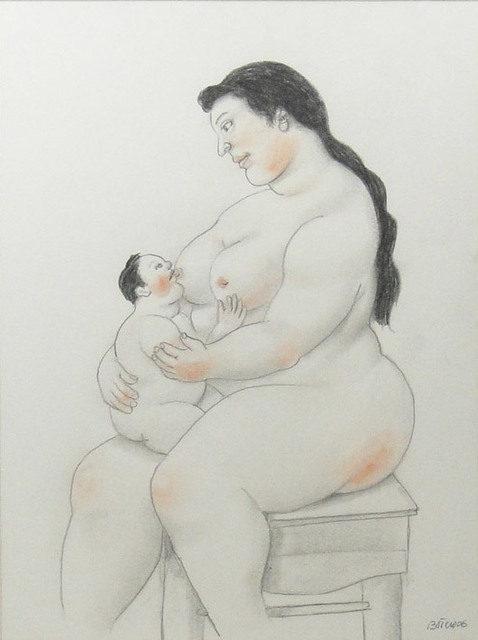 Fernando Botero, 'Breastfeeding mom', 2006, La Maison de la Petite Sara