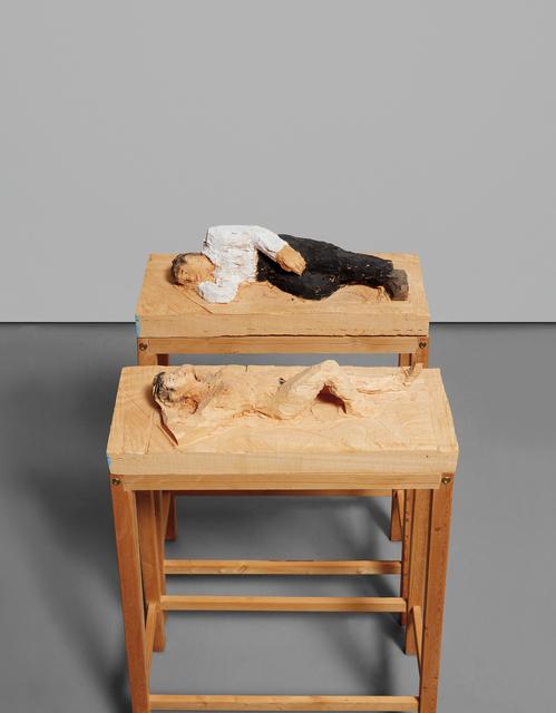 Stephan Balkenhol, 'Two works: (i) Untitled (Man); (ii) Untitled (Woman)', 1997, Phillips