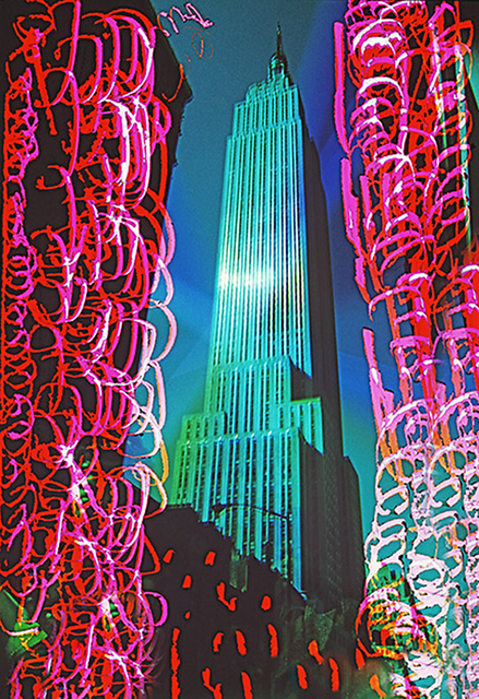 Mitchell Funk, 'Empire State Building with Exacto Knife Cuts and Burns ', 1969, Robert Funk Fine Art