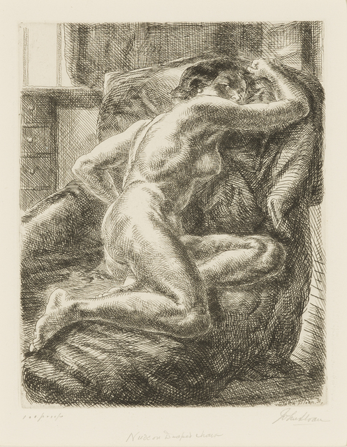 , 'Nude on Draped Couch,' 1931, Childs Gallery