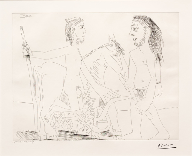Pablo Picasso, 'Television: Combat de Chars a l'Antique, from the 347 Series', 1968, Leslie Sacks Gallery