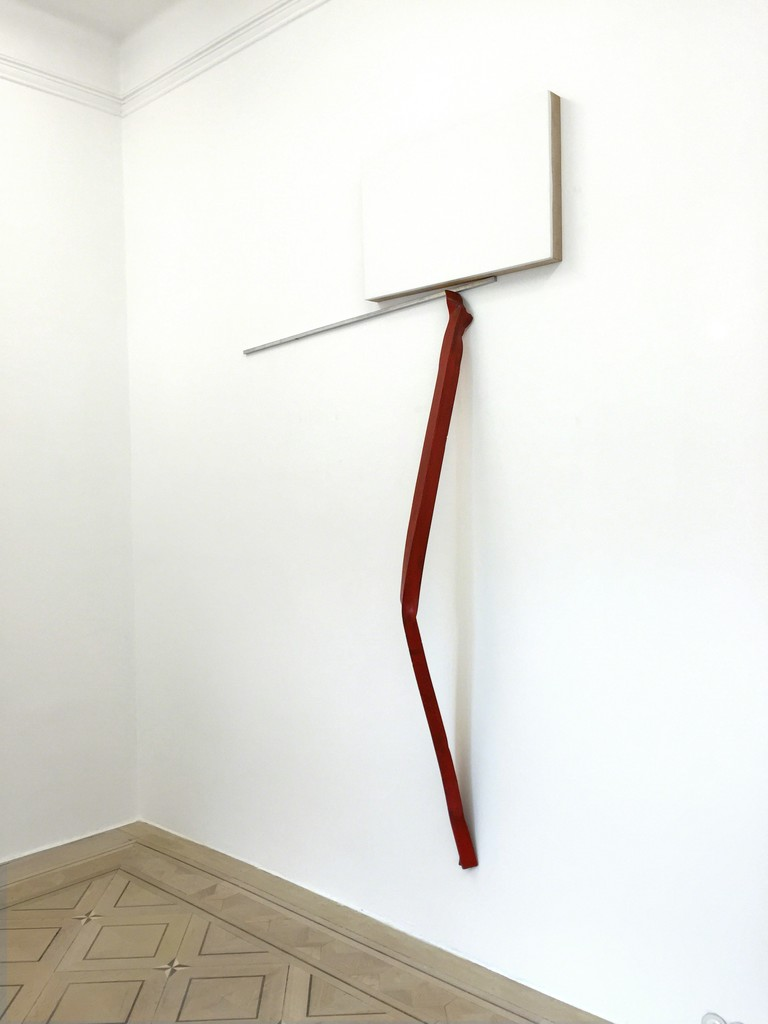 "IMI KNOEBEL, ""Frauenstück"", 1989, Acrylic on wood, aluminium rod/steel,