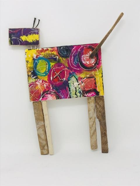 Robin Howard, 'Dog #10', 2020, Sculpture, Encaustic, acrylic, oil crayon, found wood., Miller Gallery Charleston