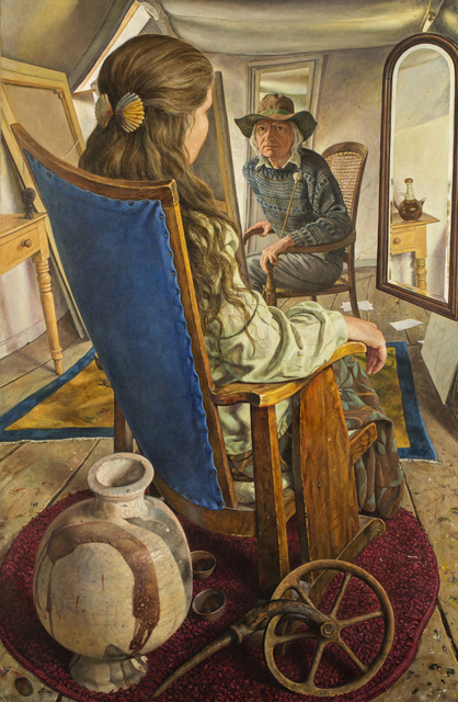 Michael Taylor (b. 1952), 'Attic Scene with Grave Goods', 2018, Painting, Oil on canvas, Waterhouse & Dodd
