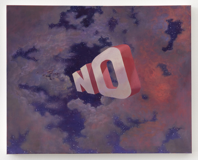Wayne White, 'NO', 2019, Painting, Oil on canvas, Joshua Liner Gallery