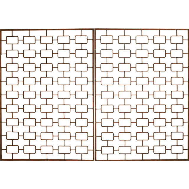 Attributed to Jean Royere, 'Pair Of Enameled Wrought Iron Architectural Panels, France', 1950s, Rago/Wright