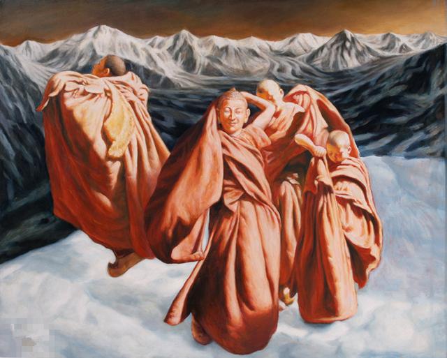 Pei Zhuangxin, 'Transcending Himalaya 飞跃喜马拉雅', 1995, W.Ming Art
