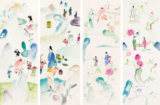 , 'Spring Outing-4 panels  游春-四屏,' 2014, Alisan Fine Arts