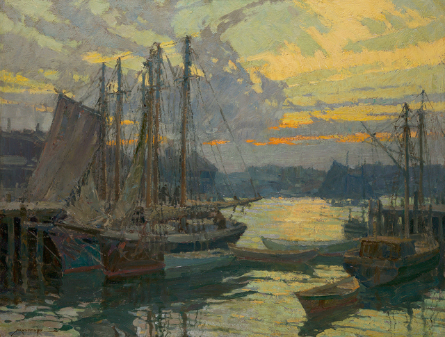 , 'Harbor View at Sunset,' , Questroyal Fine Art