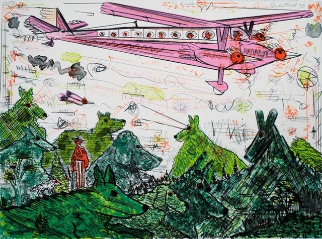 Roy DeForest, 'The Airplane', 1993, Drawing, Collage or other Work on Paper, Lithograph, Nikola Rukaj Gallery