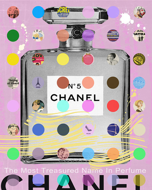 Nelson De La Nuez, 'Chanel #5 (Grey on Pink)', Bruce Lurie Gallery