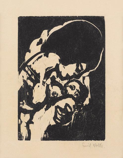 Emil Nolde, 'Junge Mutter', 1917, Print, Woodcut on paper, Ludorff