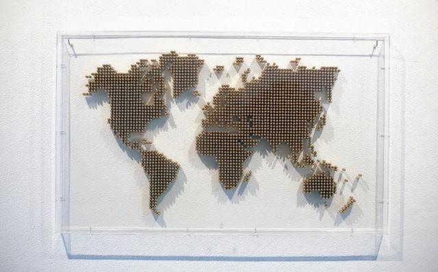 , 'War Map,' 2013, Underdogs Gallery