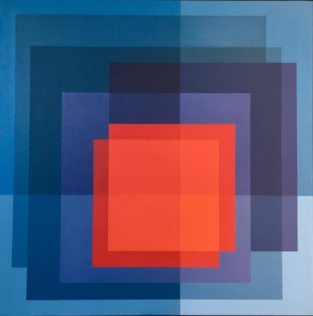 , 'Deconstructing Albers: Form blue to red,' 2018, Artig Gallery