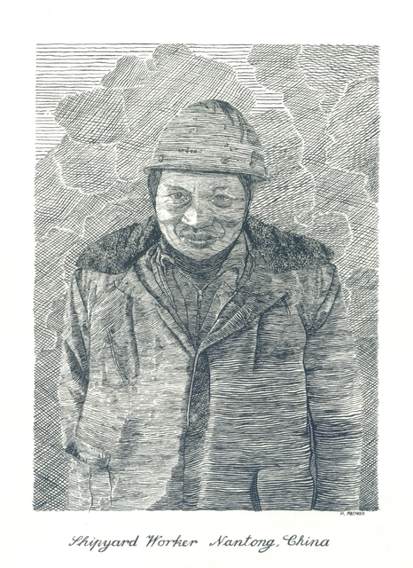 , 'Shipyard Worker, Natong China,' 2015, K. Imperial Fine Art