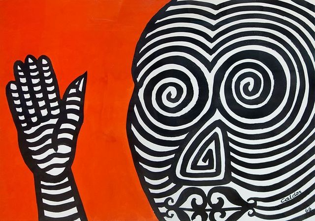 , 'Striped Face, Striped Hand,' 1966, Helwaser Gallery