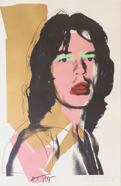 Andy Warhol, 'Mick Jagger (FS II.143)', 1975, Print, Screenprint on Arches Aquarelle (rough) Paper, Revolver Gallery