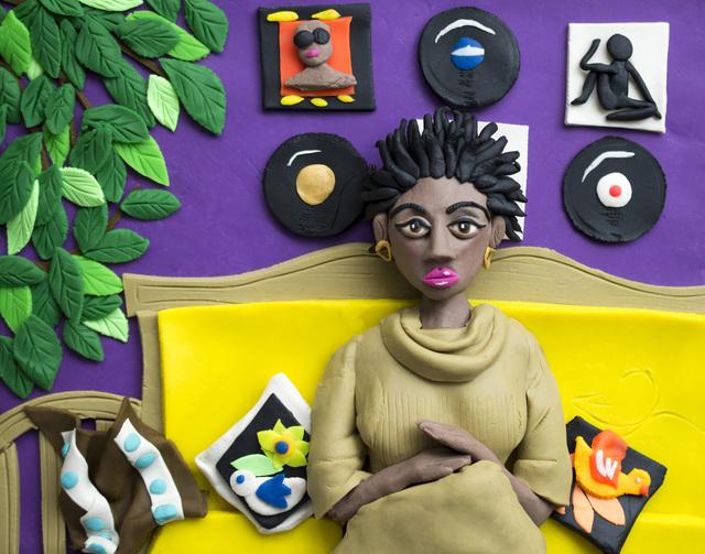 Eleanor Macnair, 'Original photograph: Afro Goddess Ex Lovers friend, 2006 by Mickalene Thomas rendered in Play-Doh ', 2019, Atlas Gallery