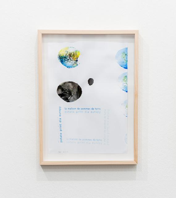 , 'La maison de pommes de terre potato print dla Europy,' 2017, PRISKA PASQUER