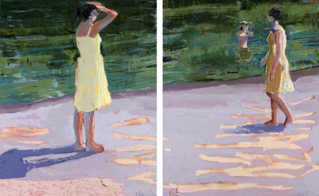 , 'Lake Diptych,' 2017, Patricia Rovzar Gallery