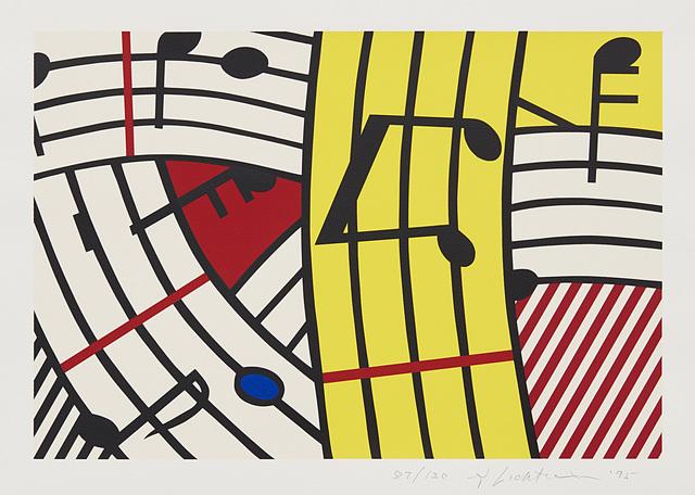 Roy Lichtenstein, 'Musical Notes (Composition IV)', 1995, Phillips