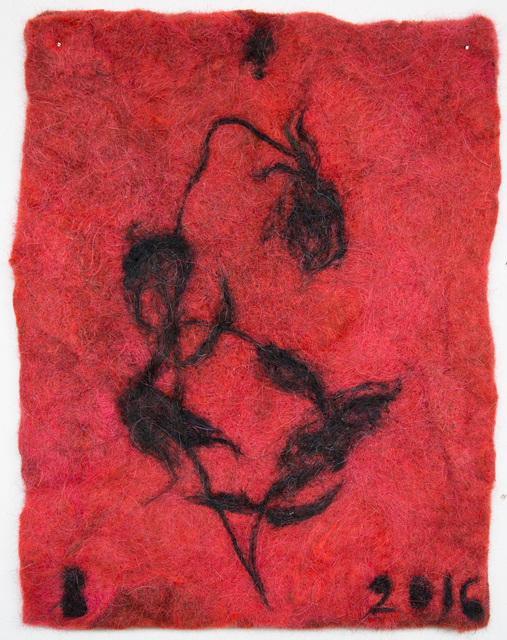 , 'rose (red/black),' 2016, Alter Space