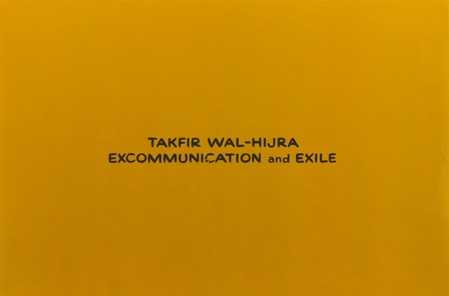 , 'Takfir Wal-Hijra Excommunication and Exile (from the series Divine Violence),' 2007, Roberts & Tilton