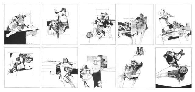 , 'The Man Who Dies Not: A Set of 10 Etchings,' 2018, Meem Gallery