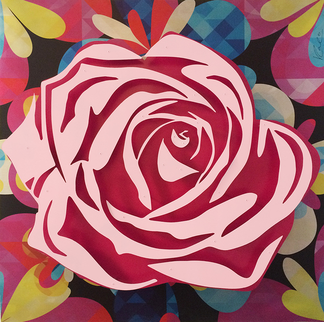 , 'Pink Rose on Kaleidoscope,' , FP Contemporary