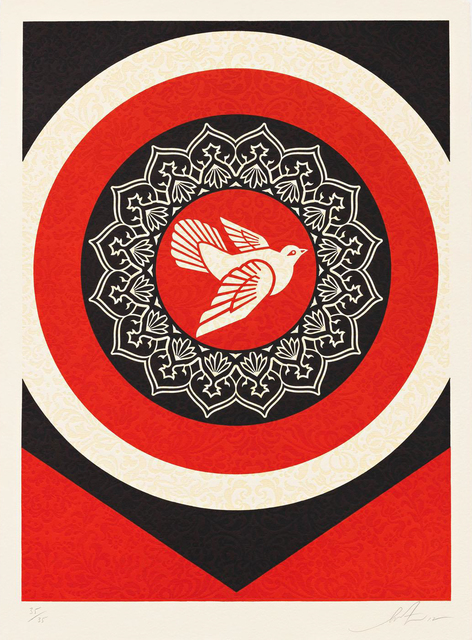 Shepard Fairey (OBEY), 'Dove Target Red', 2012, Toshkova Fine Art Advisory