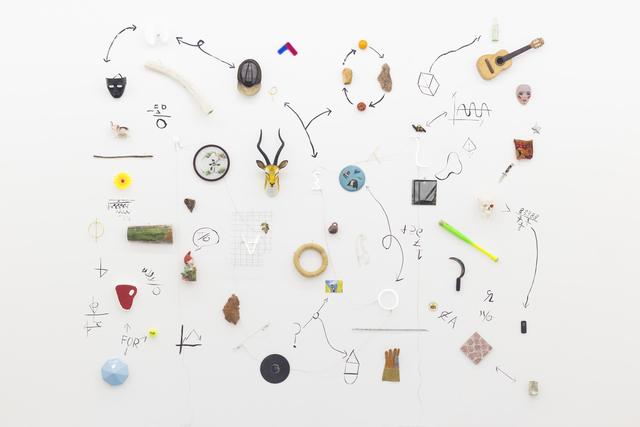 "Gabriel Rico, 'II Mural, from the series ""Reducción objetiva orquestada (2016 - 2021)""', 2020, Mixed Media, Mixed media, brass, neon, Perrotin"