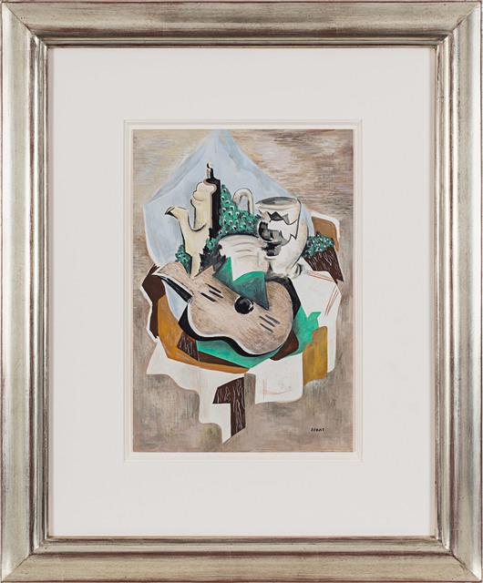 Serge Férat, 'Nature morte à la cafetière et à la guitare', ca. 1918, Drawing, Collage or other Work on Paper, Gouache on paper, Rosenberg & Co.
