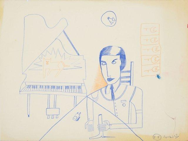 , 'Conversation with piano (Negotiation Skills),' 2017, Galerie Kornfeld