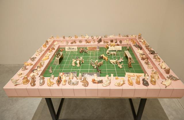 , 'Cat Olympics Soccer Field,' 2017, Ota Fine Arts