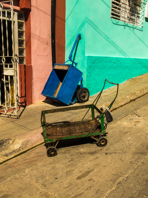 , '2 Carts Green Wall, Santiago de Cuba,' , Soho Photo Gallery
