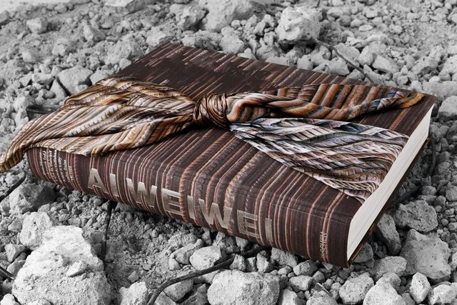 , 'Ai Weiwei - Hand Signed and Numbered Monograph Wrapped in Scarf,' 2014, Alpha 137 Gallery