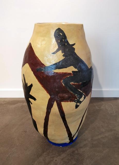 Mie Olise Kjærgaard, 'Rider on Horse on Yves Klein Blue', 2019, Hans Alf Gallery