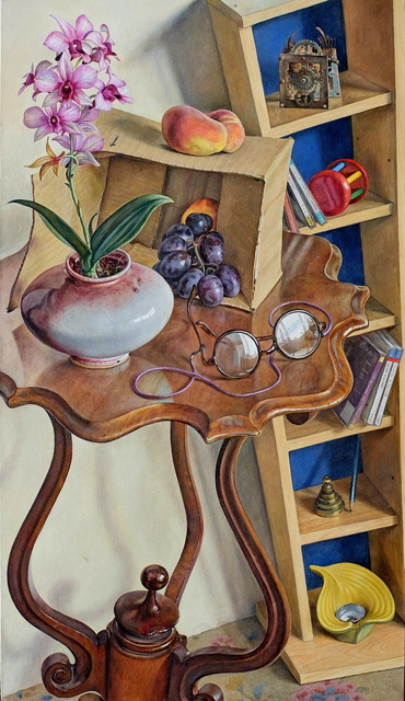 Michael Taylor (b. 1952), 'Still life with orchid', 2017, Painting, Oil on canvas, Waterhouse & Dodd