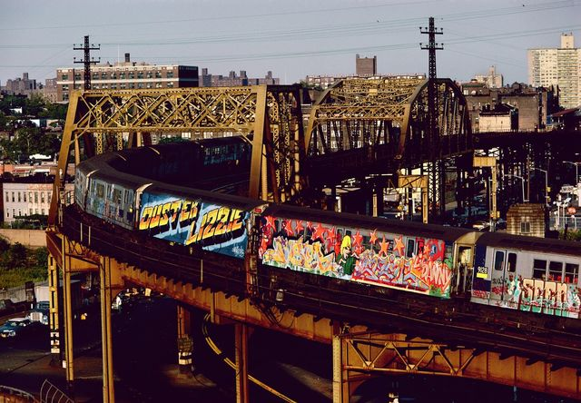 , 'Two Whole Cars in Straight Letters and Wild Style by Duster Lizzie, Bronx, NY,' 1982, Steven Kasher Gallery