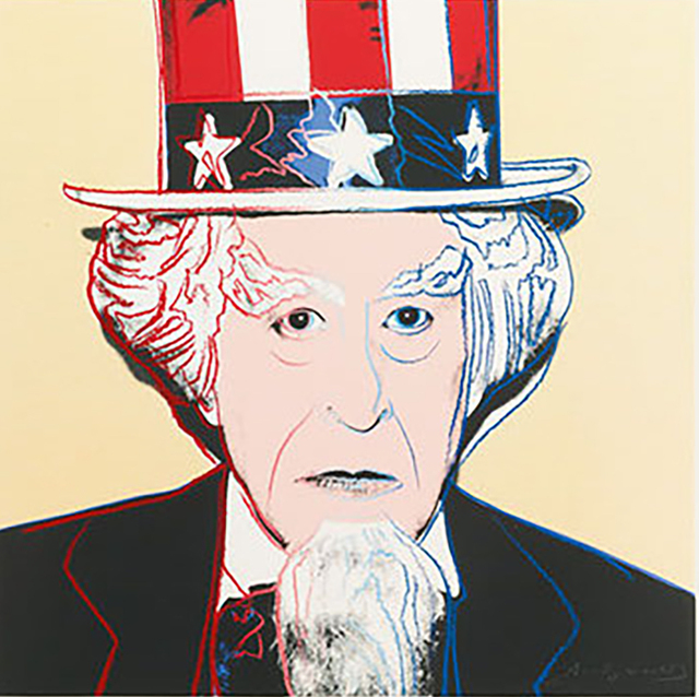 Andy Warhol, 'Uncle Sam (FS II.259) ', 1981, Print, Screenprint on Lenox Museum Board with Diamond Dust, Revolver Gallery