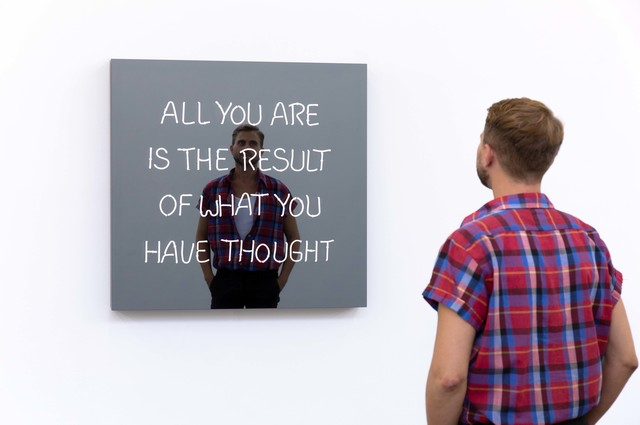 Jeppe Hein, 'All You Are Is the Result of What You Have Thought (Handwritten)', 2019, Galleri Nicolai Wallner