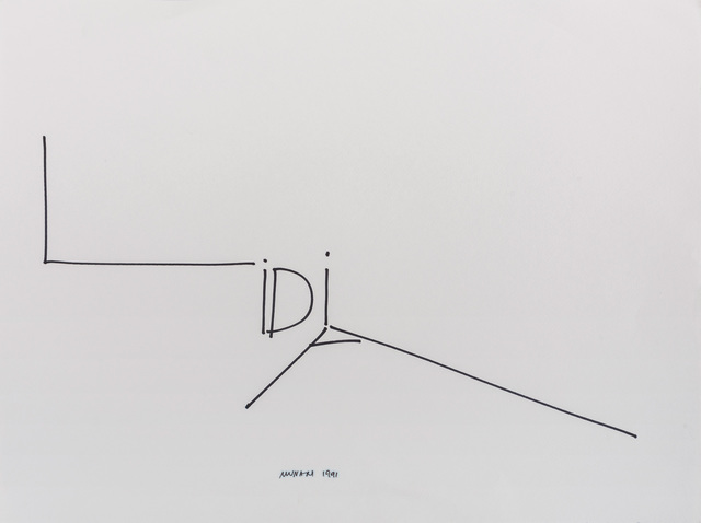Bruno Munari, 'Lidia', 1991, Drawing, Collage or other Work on Paper, Marker on cardboard, ArtRite