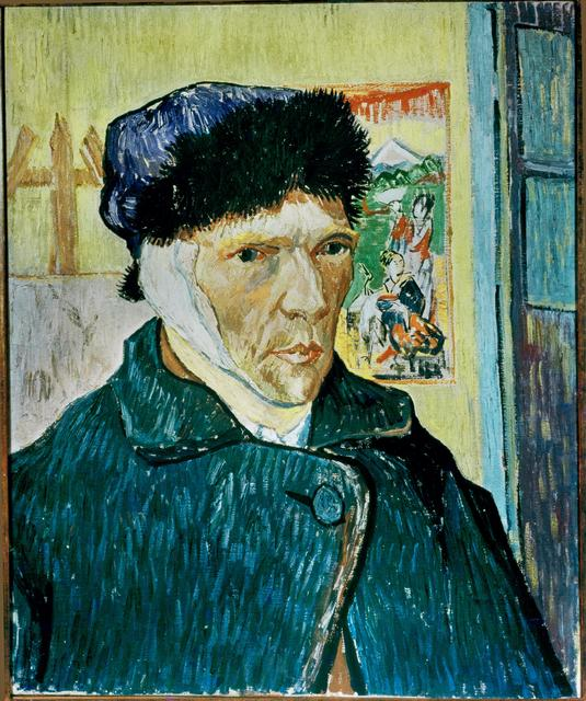 Vincent van Gogh, 'Self-Portrait with Bandaged Ear', 1889, Art History 101