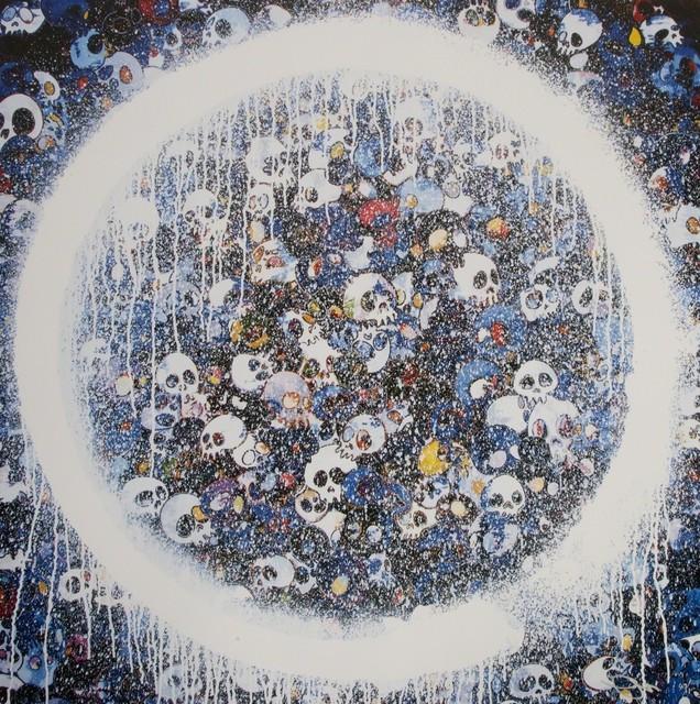 Takashi Murakami, 'Enso: Memento Mori Red on Blue', 2016, Lougher Contemporary