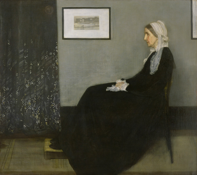 James Abbott McNeill Whistler, 'Arrangement in grey and black No. 1 (Whister's Mother)', 1871, Musée d'Orsay
