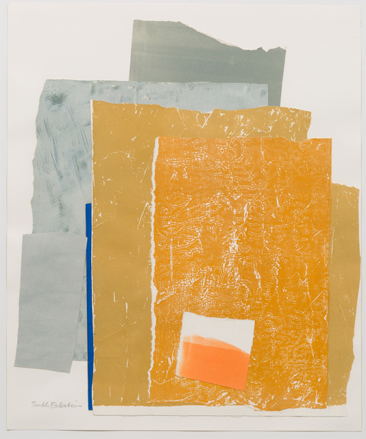 , '[Abstract Composition in Rust Yellow and Blue],' , Childs Gallery