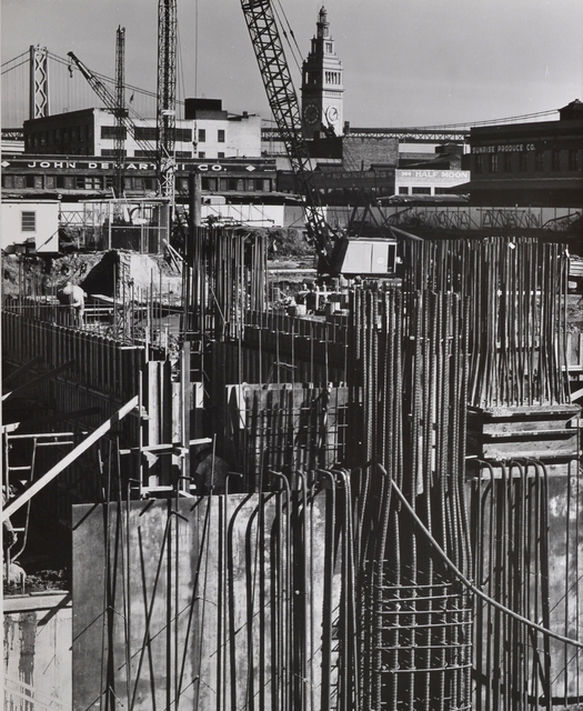 Pirkle Jones, 'Untitled (Construction site)', nd, Scheinbaum & Russek Ltd.