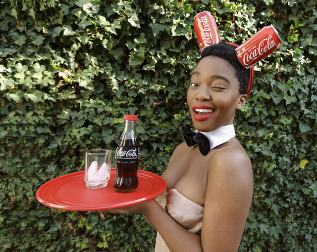 , 'Black Coca-Cola Series - Bunny Girl,' 2015, Christopher Moller Gallery
