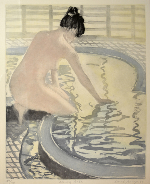 Sarah Brayer, 'Morning Bath', 1989, Print, Aquatint, Ronin Gallery